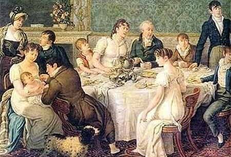 Regency family dinner