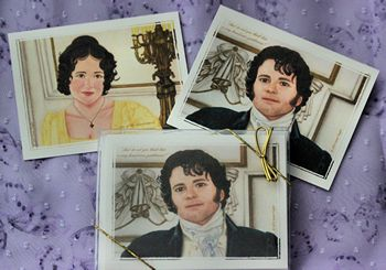 Darcy and Lizzy cards by JT Originals (2012)