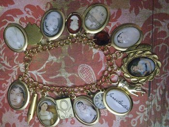 Jane Austen Charm bracelet from justbedesigns