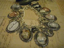 Jane Austen Literary Charm Bracelet by Justbedesigns 2012