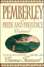 Image of the book cover of Pemberley or Pride and Prejudice Continued: by Emma Tennant © St. Martin's Press 1993