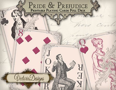 Pride and Prejudice Playing Cards