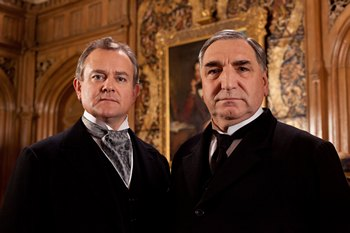 Downton Abbey Season 3: Hugh Bonneville as Lord Grantham and Jim Carter as Carson (2012)