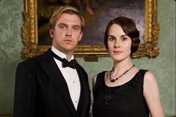 Downton Abbey Season: 3 Dan Stevens as Matthew Crawley and Michelle Dockery as Mary Crawley (2012)