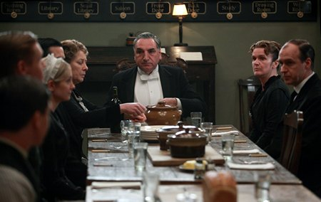 Downton Abbey Season 3 Episode 2: servant's hall dinner