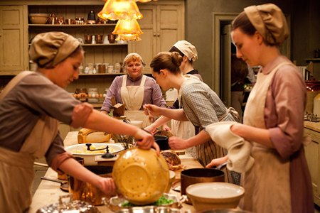 Downton Abbey Season 3 Episode 4: downstairs kitchen