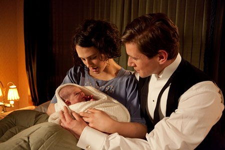 Downton Abbey Season 3 Episode 4: Sybil and Tom Branson and new baby