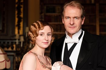 Downton Abbey Season 3: Laura Carmichael as Lady Edith Crawley and Robert Bathurst as Sir Anthony Strallen (2012)
