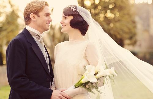 Downton Abbey Season 3 Episode 1: Mary and Mathew Crawley wedding (2012)