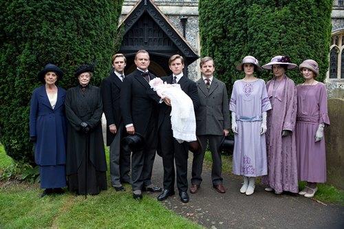 Downton Abbey Season 3 Episode 6: Christening of baby Sybil