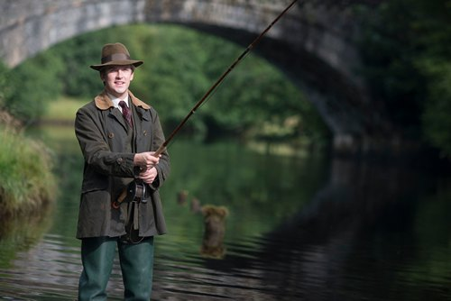 Downton Abbey Season 3 Episode 7 Matthew Crawley fishing