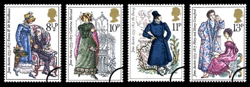 Jane Austen Bicentenary Stamps (1975)