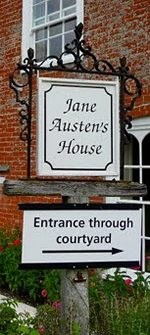 Front entrance to Jane Austen House Museum, Chawton, England