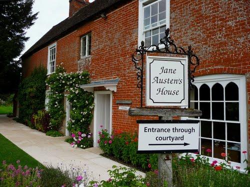 Jane Austen's House Museum,: Chawton Front Sign