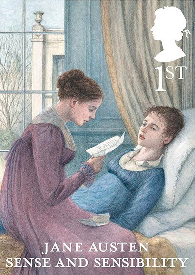 Jane Austen Stamp Sense and Sensibility (2013)