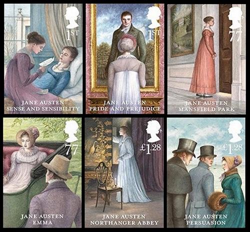 Jane Austen Stamps (2013)