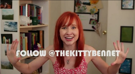 The Lizzie Bennet Diaries: follow Kitty Bennet