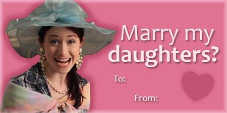 The Lizzie Bennet Diaries: Mrs Bennet valentine