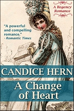 Image of the book cover of A Change of Heart, by Candice Hern (2012)