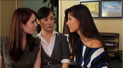 Image from The Lizzie Bennet Diaries: Caroline v Lizzie and Charlotte