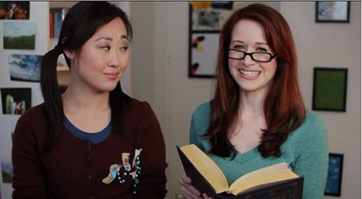 Image from The Lizzie Bennet Diaries: Charlotte and Lizzie © 2013 The Lizzie Bennet Diaries