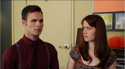 Image from The Lizzie Bennet Diaries: proposal scene