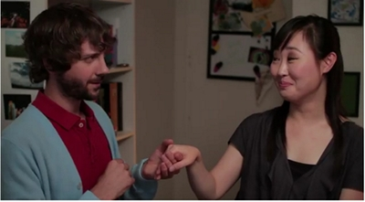 Image from The Lizzie Bennet Diaries: Collins and Charlotte