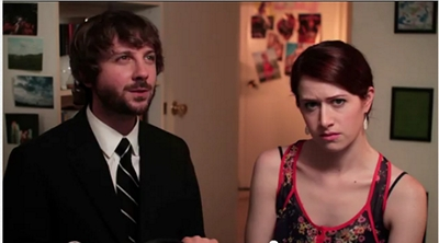 Image from The Lizzie Bennet Diaries: Collins and Lizzie