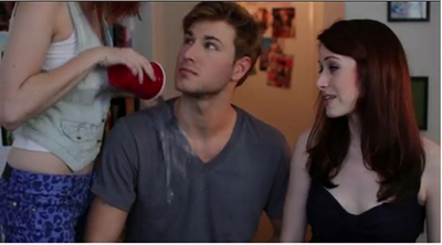 Image from The Lizzie Bennet Diaries: Lydia, Wickham and Lizzie