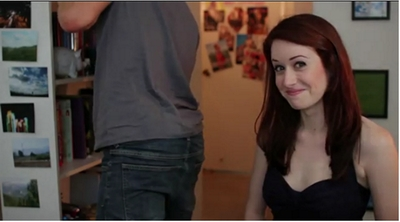 Image from The Lizzie Bennet Diaries: Wickham and Lizzie