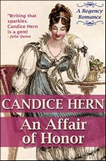 Image of the book cover of An Affair of Honor, by Candice Hern © 2012 Candice Hern