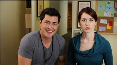 Image from The Lizzie Bennet Diaries: Bing and Lizzie © 2013 The Lizzie Bennet Diaries