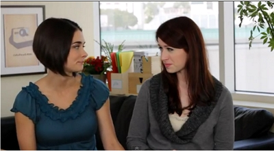 Image from The Lizzie Bennet Diaries: Gigi and Lizzie © 2013 The Lizzie Bennet Diaries