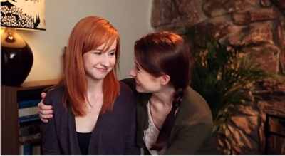 Image from The Lizzie Bennet Diaries: Lydia and Lizzie reconciled © 2013 The Lizzie Bennet Diaries
