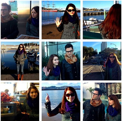 Image from The Lizzie Bennet Diaries: San Francisco montage © 2013 The Lizzie Bennet Diaries