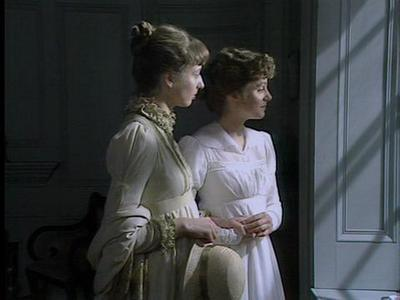 Image from Pride and Prejudice 1980: Charlotte Lucas and Elizabeth Bennet © 2004 BBC Worldwide