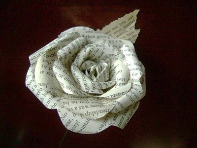 Image of the Pride and Prejudice paper rose by HBixbyArtworks @ 2013 HBixbyArtworks