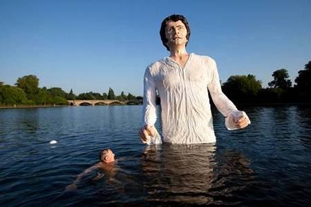Mr Darcy twelve foot statue (2013)