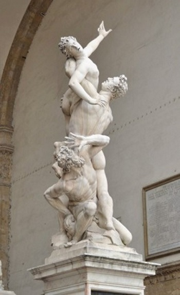 Rape of the Sabine Women Michangelo Florence x 350