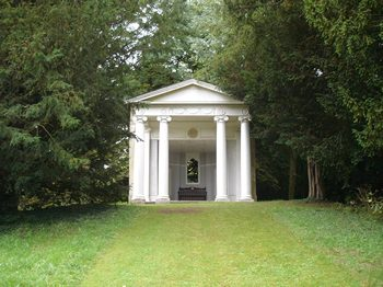 Greek temple at Godmersham Park, Kent 2013