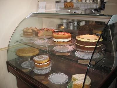 Jane Austen Tour 2013 Bea's Vintage Tea Room pastry case