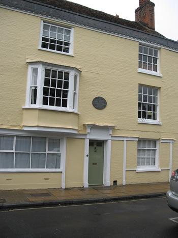 Jane Austen Tour 8 College St, Winchester 2013