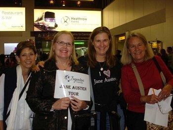 Jane Austen Tour arrival at Heathrow 2013