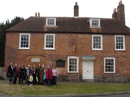 Jane Austen Tour at Chawton Cottage 2013