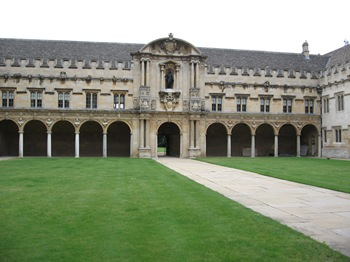Jane Austen Tour St. John's College Oxford 2013