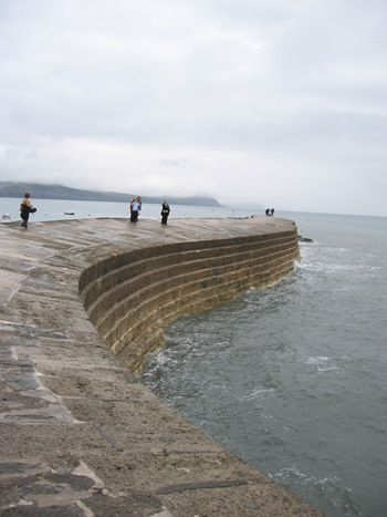 Jane Austen Tour walking the Cobb, Lyme Regis 2013