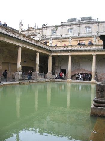 Jane Austen Tour The Roman Baths, Bath 2013