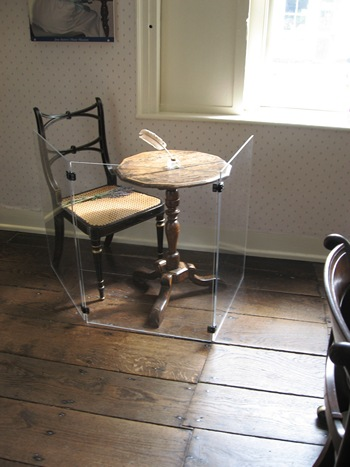 Jane Austen's writing desk at Chawton Cottage (2013)