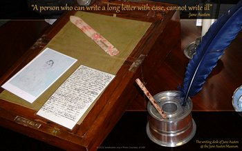 Jane Austen's writing desk at The British Library