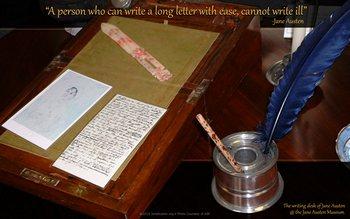 Jane Austen's writing desk at The British Library